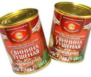 ГОСТ Свинина тушеная консервы. мясн. кусковые стер. 1с (338гр.)