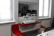 Модуль (с зеркалом и подсветкой),  Khroma 1,  35м,  ящики справа,  красный